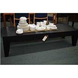 Modern wooden coffee table with single drawer