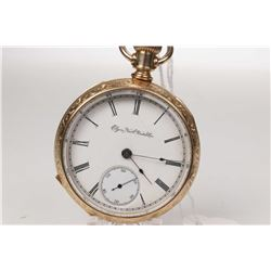 Elgin size 18, 15 jewel, grade 44, model 5 pocket watch. Serial # 2887799 dates this pocket watch to