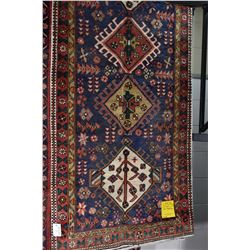 100% wool Iranian Tabriz runner/ area carpet with multiple medallions, overall geometric pattern, tr