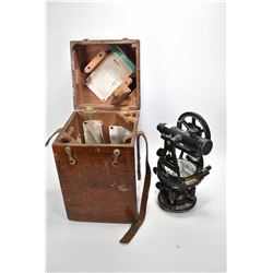 Vintage surveyors transit marked W & LE Gurley, New York, made for The Hughes Owens Company Ltd. No.