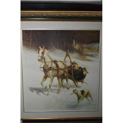 Gilt framed Kreighoff style print
