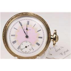 Elgin size 16, 7 jewel grade 290, model 6 pocket watch. Serial # 14634274, dates to 1910. 3/4 nickel