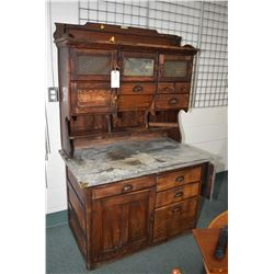 """Antique Canadiana kitchen cabinet with multi-drawers and doors """"The Chatham"""" by the Mansion Campbell"""