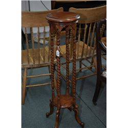 """Antique style statuary stand with turned supports, 40"""" in height"""