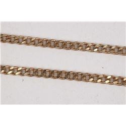 """10kt yellow gold 20"""" curb chain. Retail replacement value $ 585.00"""