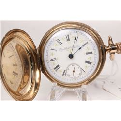 Elgin size 18, 7 jewel, grade 96, model 4 pocket watch. Serial # 2626546 dates this watch to 1888. F