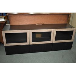 "Three drawer, three drawer modern television stand, 71"" long"