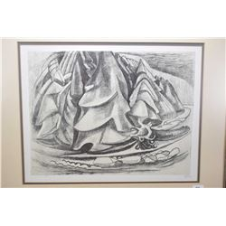 Three framed limited edition prints of charcoal drawing done by Emily Carr between 1929-1931, from t
