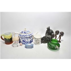 "Selection of collectibles including Royal Crown Derby ""Mikado"" large tea pot, note stress crack on u"