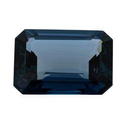 29.56 ct. Natural Emerald Cut London Blue Topaz