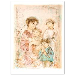 Lotte and Her Children by Hibel (1917-2014)