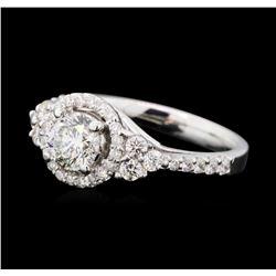 1.37 ctw Diamond Ring - 14KT White Gold