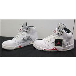 Pair Size 10 White Supreme Air Jordan 94 Sneakers