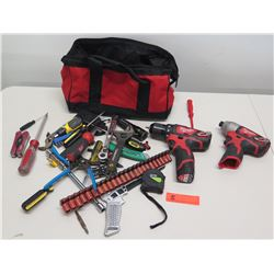 Qty 2 Milwaukee 12V Impact Driver, Drill & Misc Hand Tools