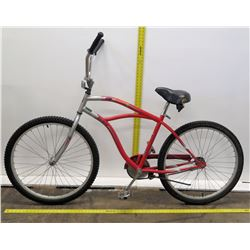 The Realm Red Single Speed Cruiser Bike w/ Coaster Brakes