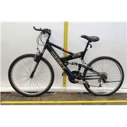Mongoose MGX DX-R Black Full Suspension Mountain Bike