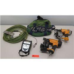 Qty 2 Bostitch BRN175 Roofing Nailer, Zebra QLN320 Barcode Printer, etc