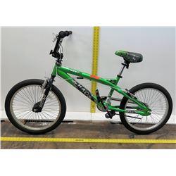 """Kent Chaos 20"""" Boy's Green Freestyle BMX Bike"""