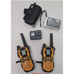 Qty 2 Motorola Handheld Two Way Radios, GoPro Hero Camera, etc