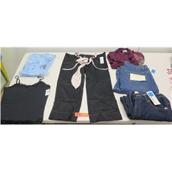 Qty 3 Pair Jeans - 2 New Covington Brand, Ladies Blouses & Tank, etc