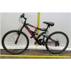 "Hyper Shocker 2G 26"" HPR Black 18 Speed Full Suspension Mountain Bike"