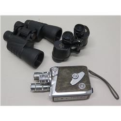 Qty 2 Nikon Binoculars, & Vintage Keystone Movie Camera