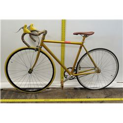 Fixie Gold-Yellow Single-Speed Racing Bike