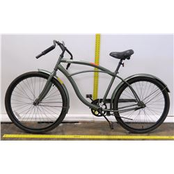 "Kulana Bicycle 26"" Men's Hiku Leaf Design Gray Cruiser Bike"