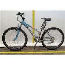 Schwinn Blue Aluminum Comp Ladies Full Suspension Mountain Bike