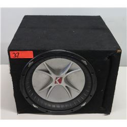 "Kicker Black 13"" Speaker Box"