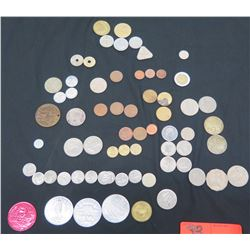 Multiple Coins & Tokens - Mardi Gras, Norwegian Cruise Line, Yen, Canada, etc