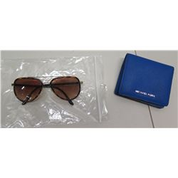Michael Kors MK5006 Prescription Sunglasses & Blue MK Credit Card ID Holder