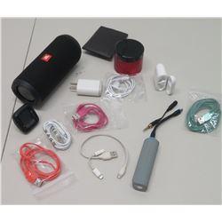 JBL Portable Bluetooth Speaker, Portable Chargers, Randomorder Power, etc