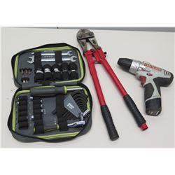 Craftsman Evolv Tool Set in Case, Craftsman Drill & Bolt Cutters