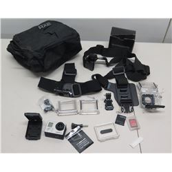 GoPro Hero3 Camera, Harness, Instructions, Accessories & Axe Bag