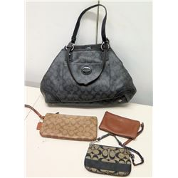 Coach Shoulder Bag, Brown Zippered Wallets & Black Monogram Wallet