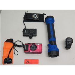 Qty 3 Digital Cameras - Perfect Shot, Canon Power Shot, Olympus, Watch, etc