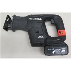 Makita XRJ07 Sub Compact 18 Volt Reciprocating Saw