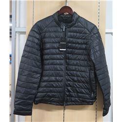 Black Padded Emporio Armani Jacket, Sz Large, Price Tag $825