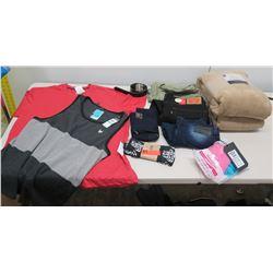 Multiple Misc Clothing - Levi's, Oakley, American Breed, etc & Blanket