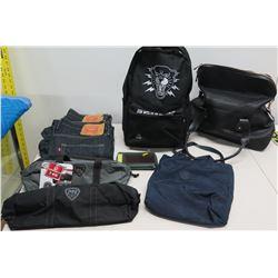 Multiple Misc Clothing - Levi's, MN, Kipling, Tiger Backpack, etc
