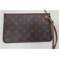 Louis Vuitton Signature Design Zipper Wristlet Bag