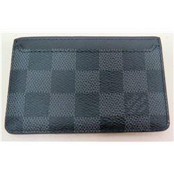 "Louis Vuitton Black 4"" Designer Wallet"