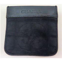 "Chanel Italy 4"" Black Wallet Coin Purse"