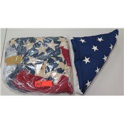 Qty 2 USA American Flags
