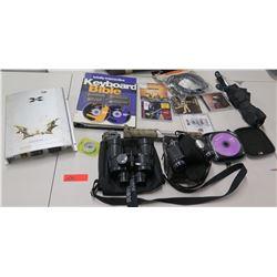 Xplore 1000 Watt Amplifier XP3692, Bushnell & Jason Binoculars, CDs, etc