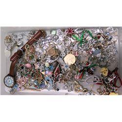 Huge Misc Costume Jewelry Assortment - Earrings, Pendants, Watch, etc