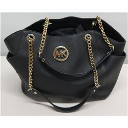 Michael Kors Large Handbag Tote Bag w/ Gold Chain Straps