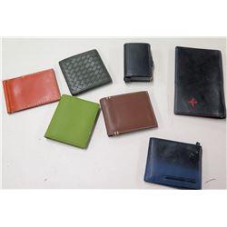 Qty 7 Misc Wallets - Bottega Veneta, Polo Ralph Lauren, etc