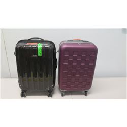 Qty 2, 4-Wheel Carry On Suitcases, Ricardo & Olympia